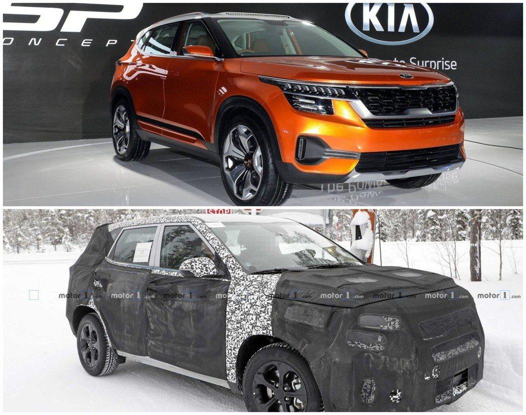 Kia Tusker (印度市場的車名)與SP Concept的造型,基本上將會...