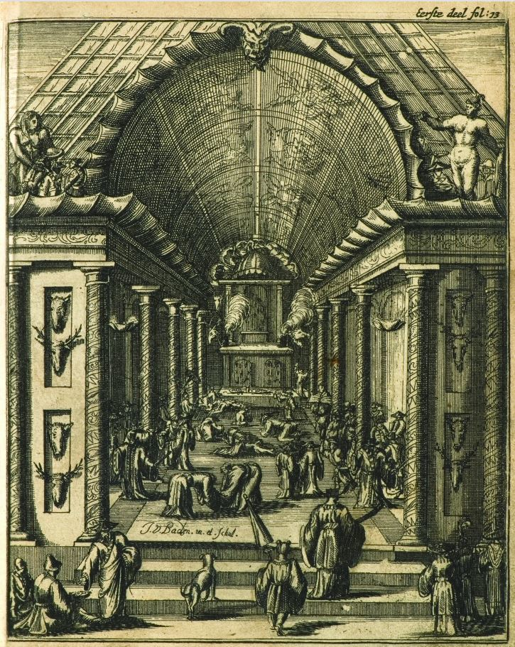 出自《被遺誤的福爾摩沙》。此圖為西拉雅人的公廨,因其畫風過去曾被誤以為是荷蘭人所...