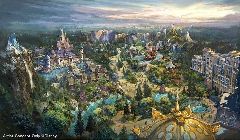 東京迪士尼度假區將興建《冰雪奇緣》、《魔法奇緣》、《彼得潘》的主題園區。圖/取自...