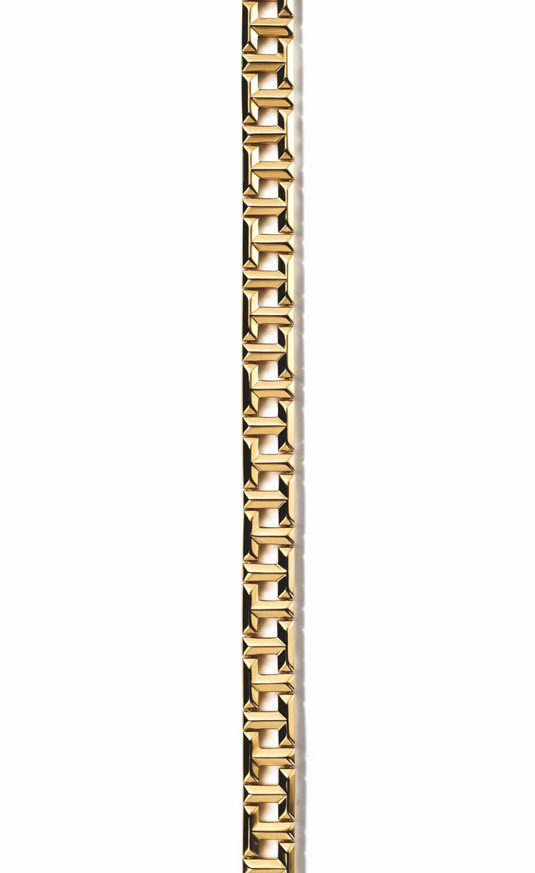Tiffany T True 18K金鏤空T字設計手鍊,17萬4,000元。圖/...