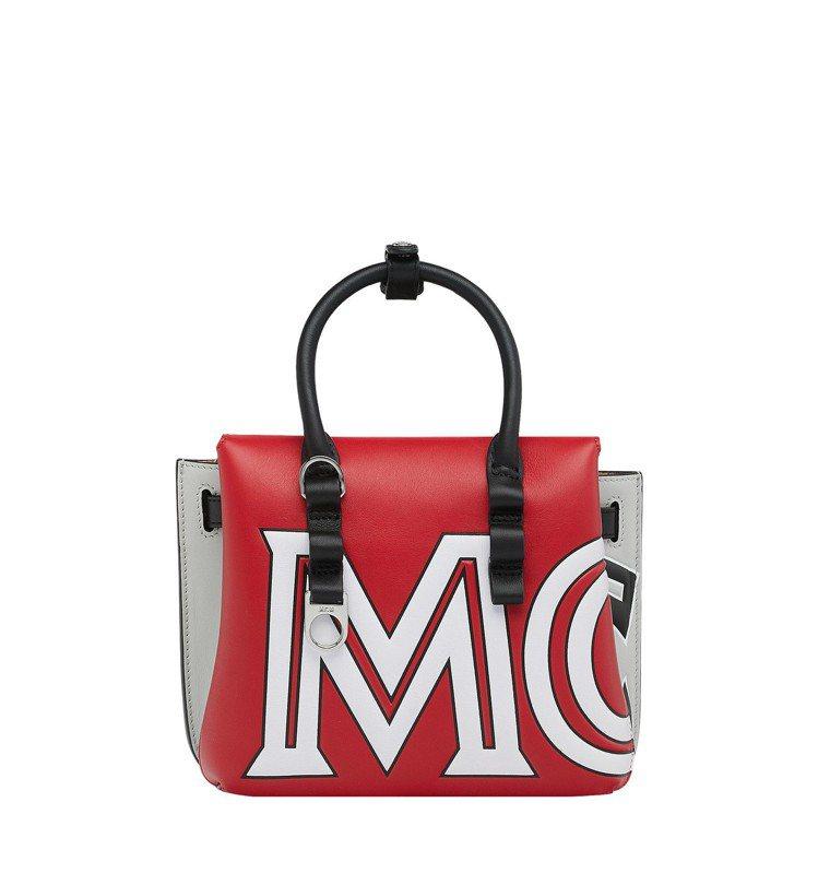 Milla撞色logo托特包,售價49,000元。圖/MCM提供