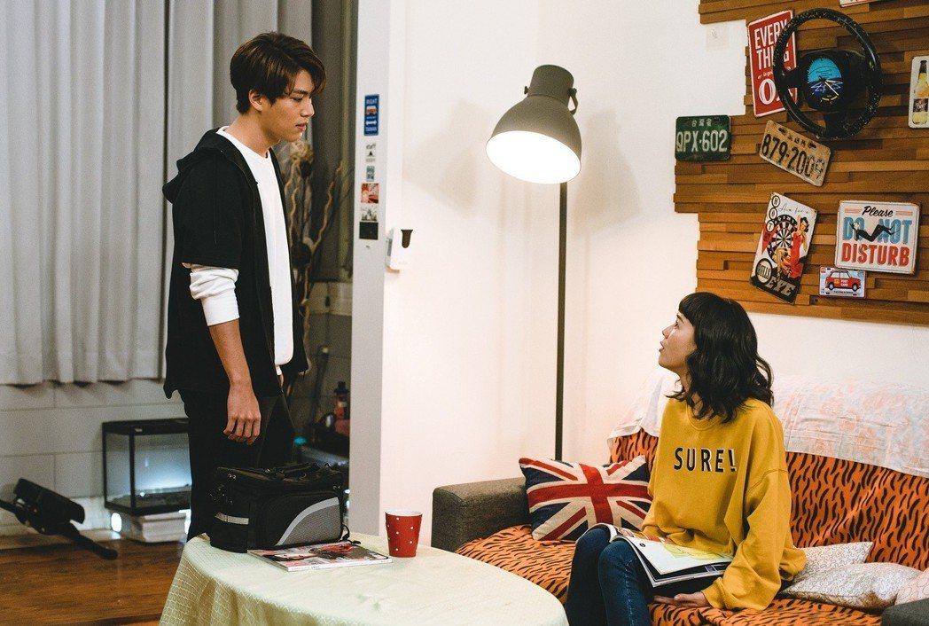 林子閎(左)、鍾瑶在戲中大吵。圖/東森提供