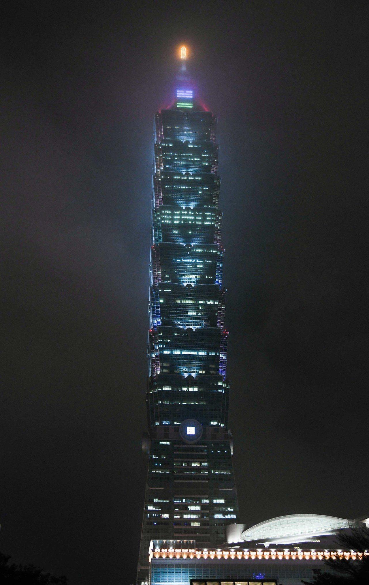 台北101即日起至元宵夜,一連5天推出元宵限定燈光設計。圖/台北101提供