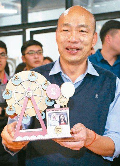 高雄市長韓國瑜的愛情摩天輪要建在何處,頗受關注。 記者劉學聖/攝影