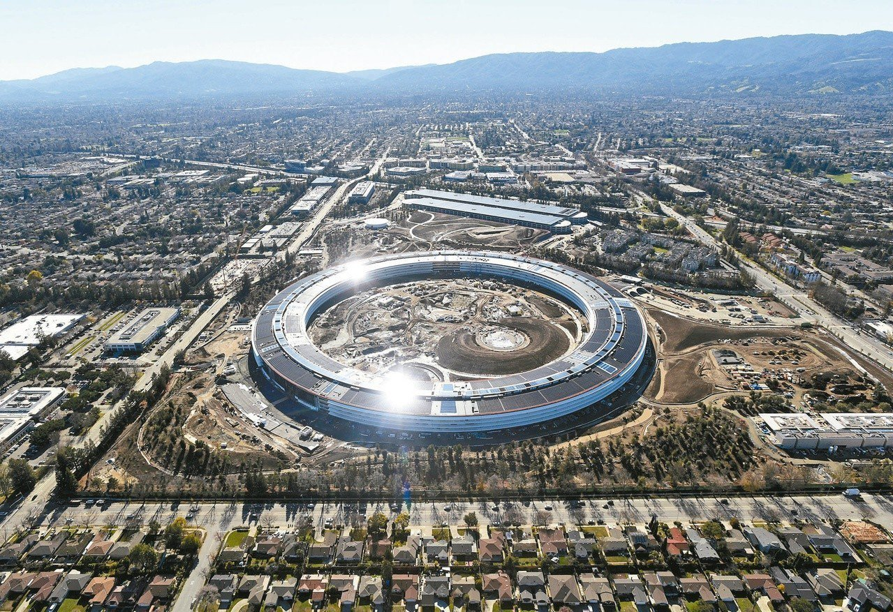 The new Apple Park。圖/路