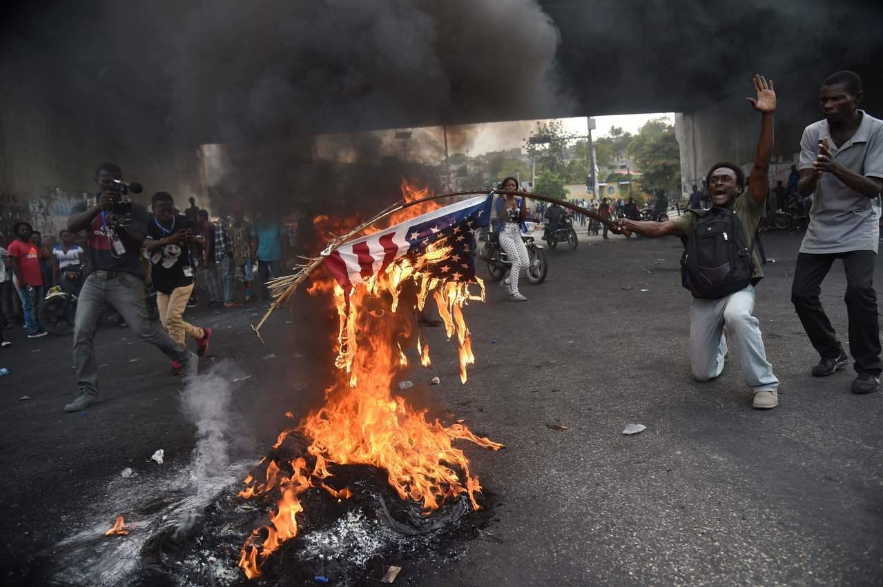 海地暴力示威頻傳。法新社