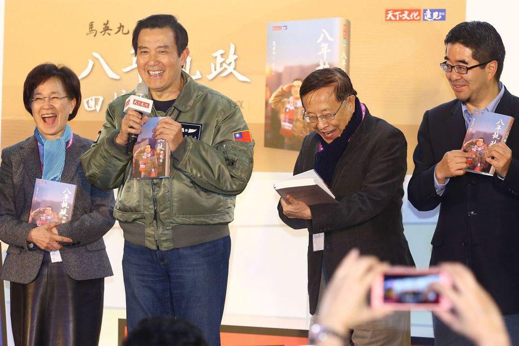 馬英九日前出席台北國際書展及簽書會。 圖/聯合報系資料照片