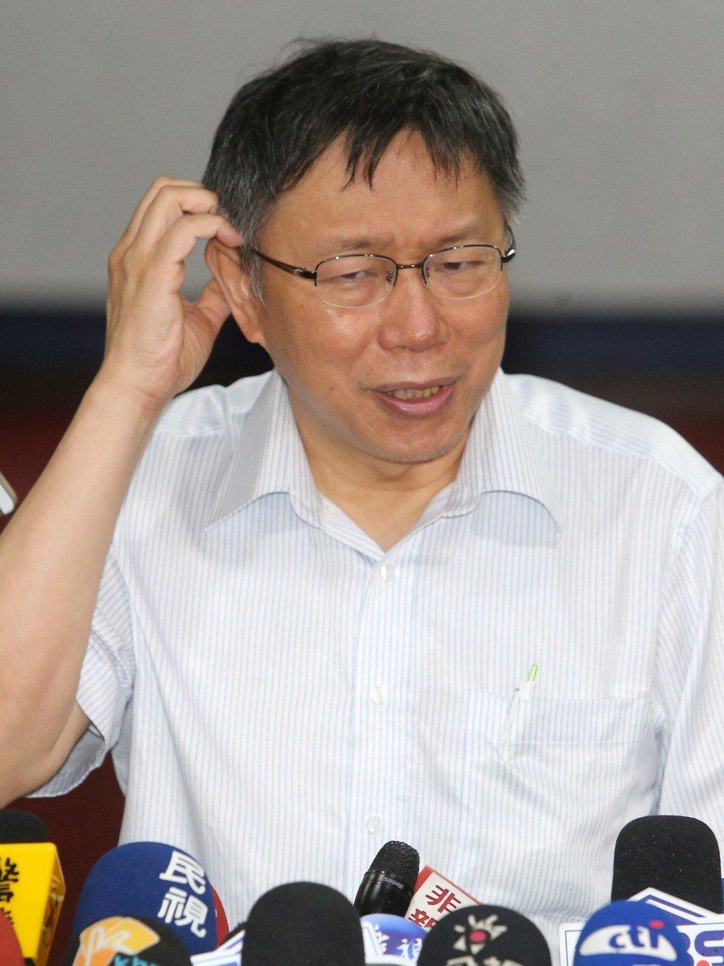 台北市長柯文哲說,搞笑、不修邊幅的濟公也是他的本質。圖/聯合報系資料照片