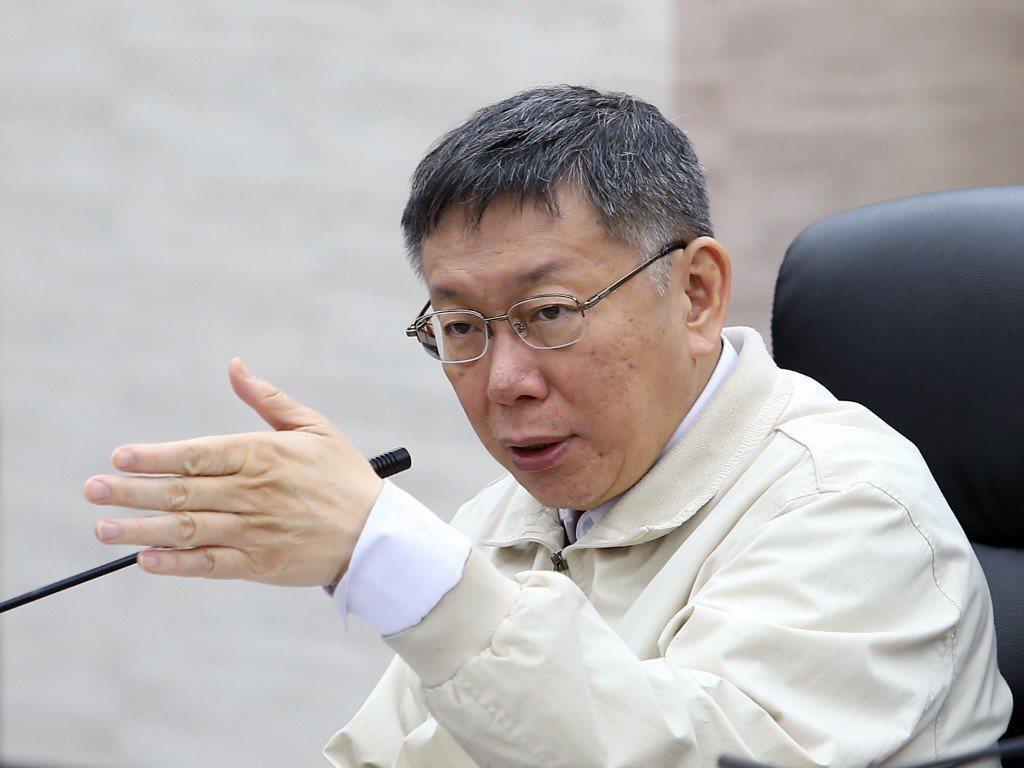 台北市長柯文哲自比清朝雍正皇帝,說自己是酷吏。圖/聯合報系資料照片
