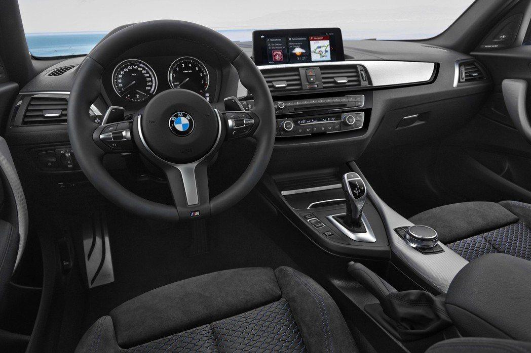 現行BMW 1-Series (F20)內裝格局。 摘自BMW