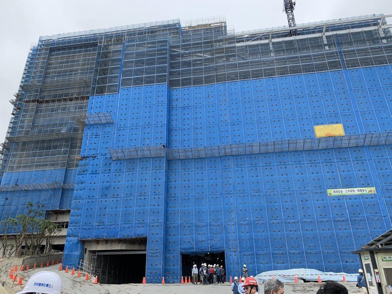 土城醫院興建中,且目前進度為71.23%。記者張曼蘋/攝影