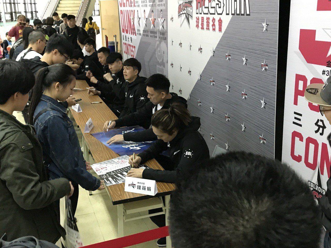 8名球星出席簽名會。記者毛琬婷/攝影