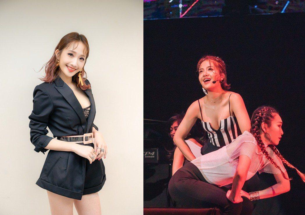 朱俐靜(左)、李宣榕性感登台,各自較勁。圖/寬宏提供