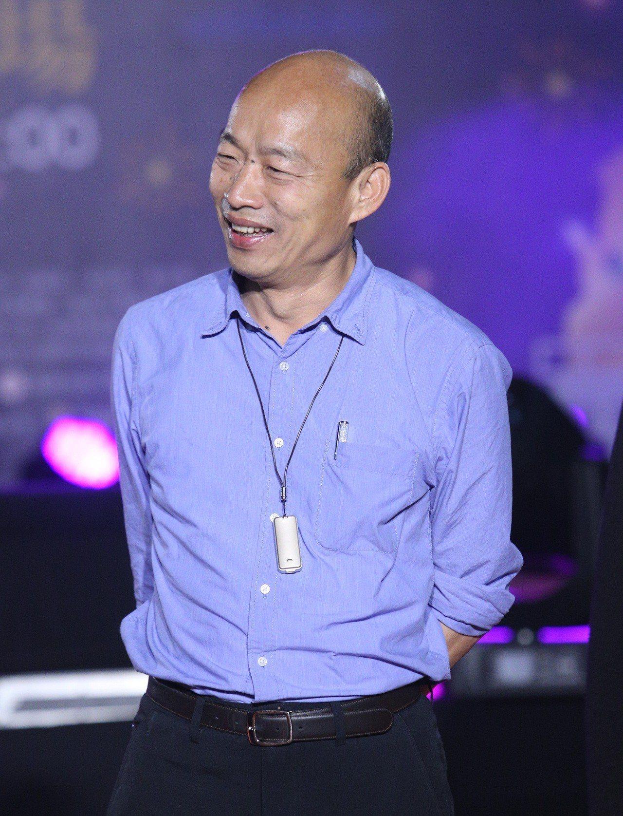 高雄市長韓國瑜昨晚參加高雄燈會金銀河國際之夜。記者劉學聖/攝影