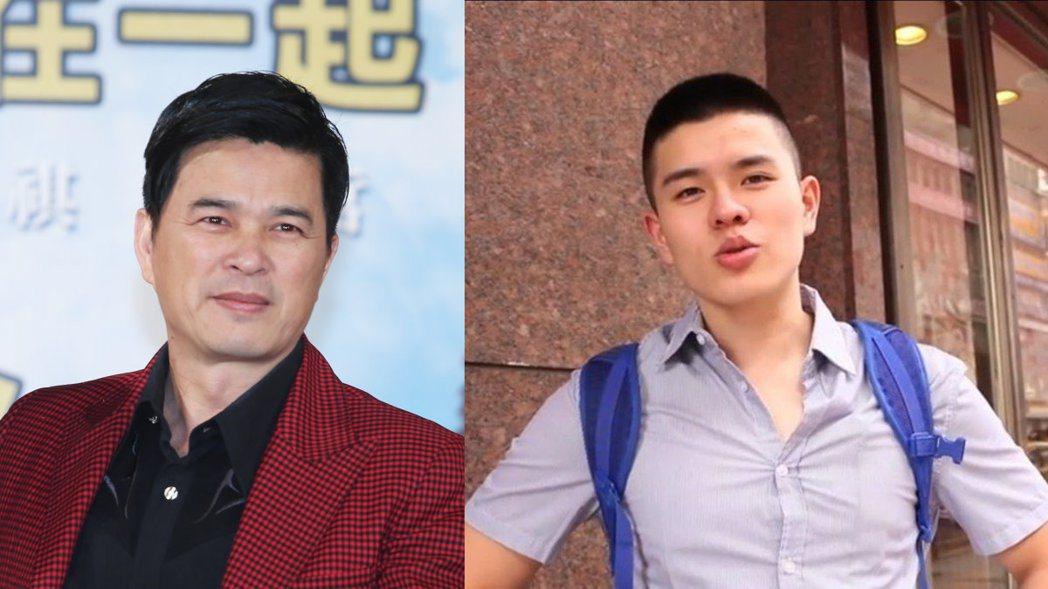李興文(左)與兒子李堉睿(右)。 左圖/聯合報資料照,右圖/擷自Youtube