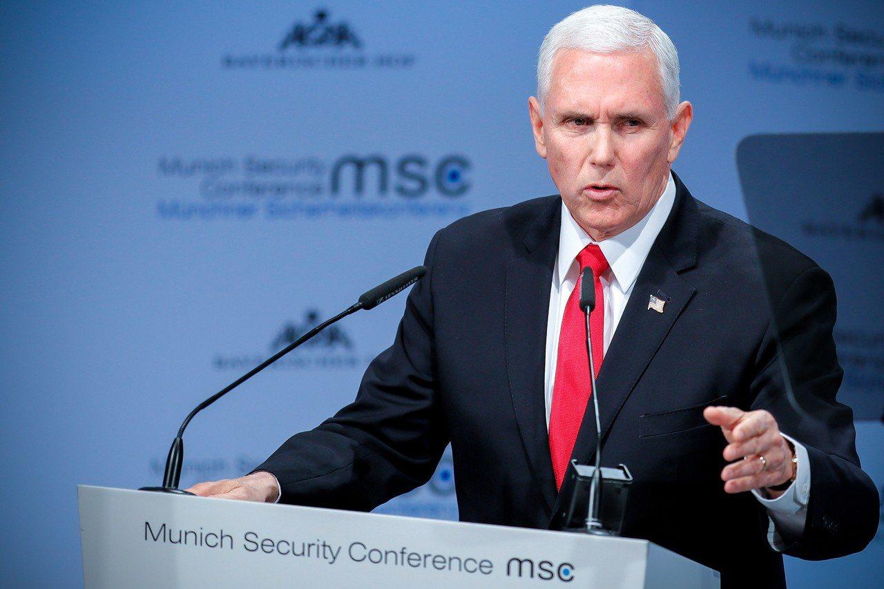美國副總統潘斯16日在慕尼黑安全會議呼籲盟邦禁用華為產品。歐新社
