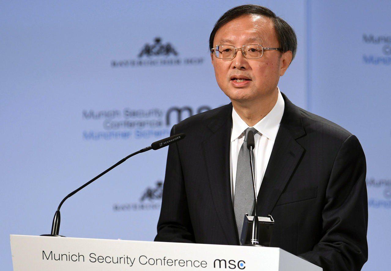 中共中央政治局委員楊潔篪16日在慕尼黑安全會議上抨擊保護主義。路透