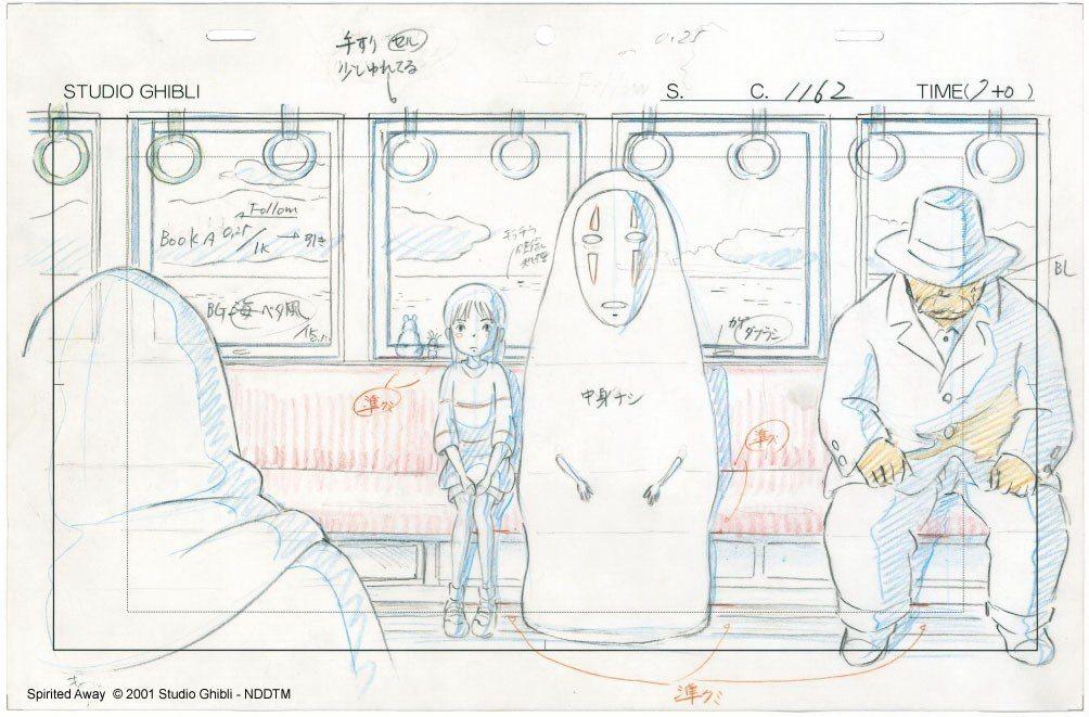 吉卜力動畫手稿展《神隱少女》珍貴手稿。圖/聯合數位文創提供