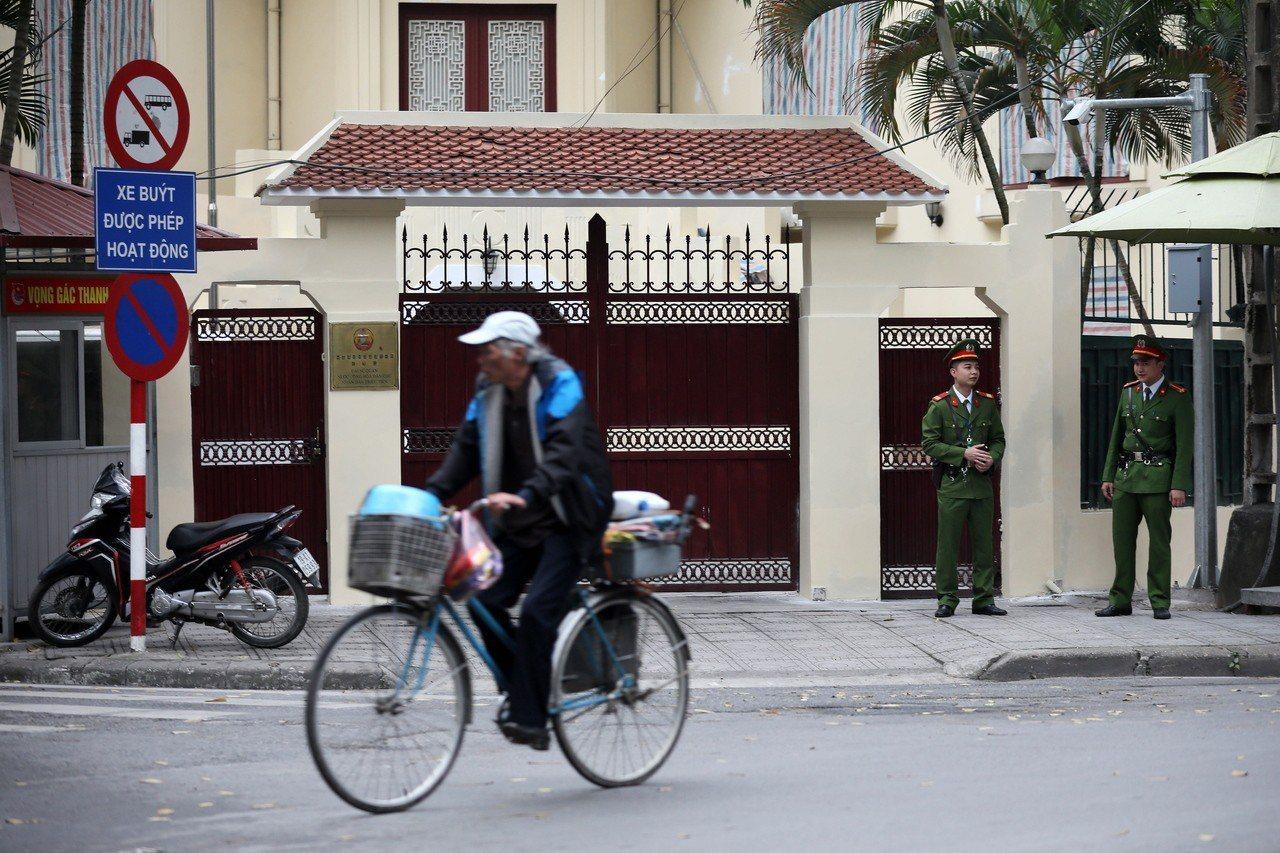 北韓駐河內大使館。歐新社