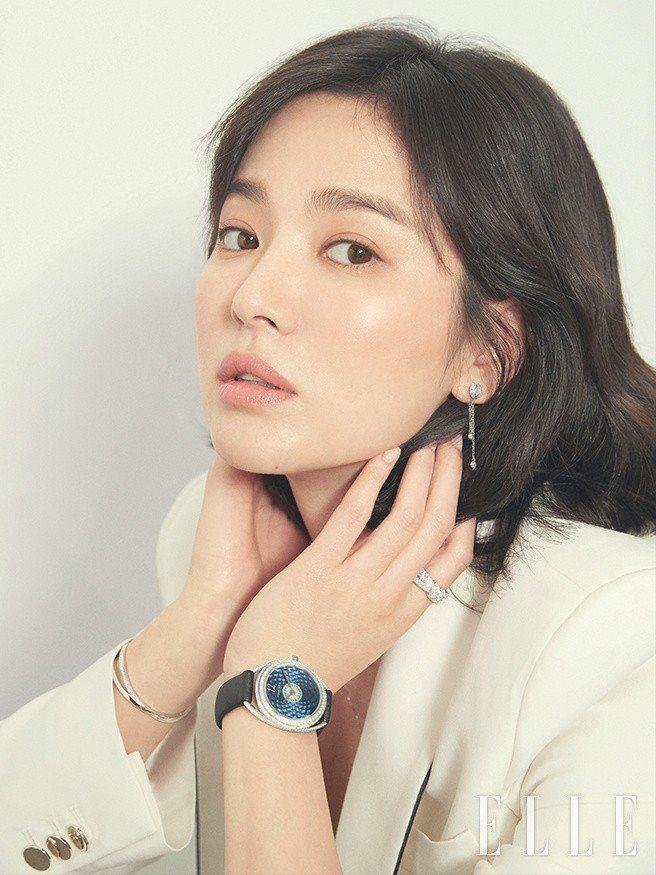 宋慧喬拍攝韓國《ELLE》雜誌3月號。圖/取自微博