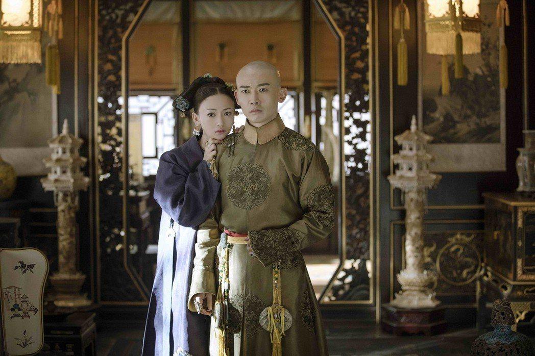聶遠(右)、吳謹言主演的「延禧攻略」在台播出收視奪冠。圖/八大提供