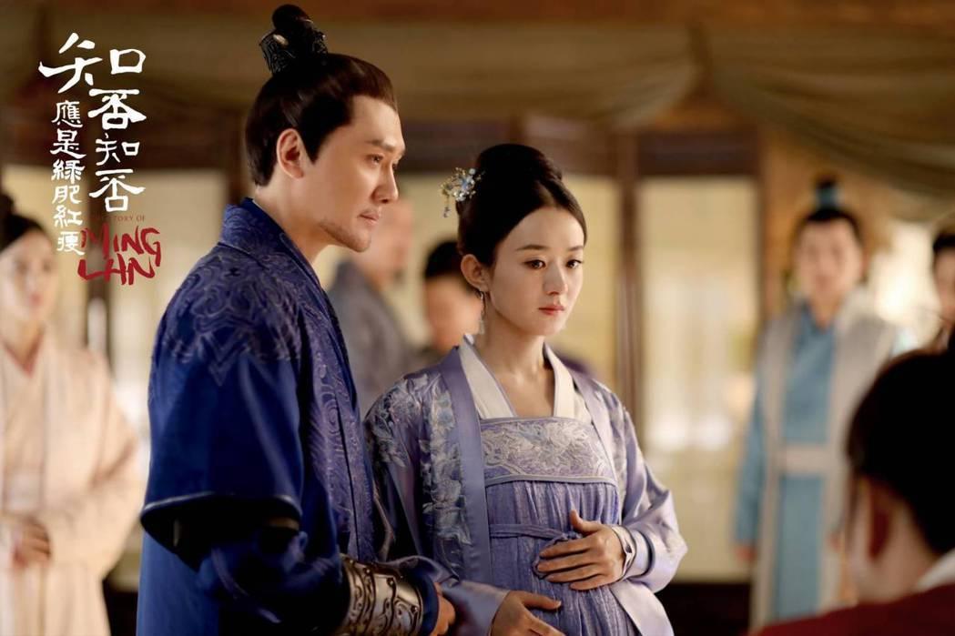 趙麗穎(右)與馮紹峰戲裡戲外都成為夫妻。圖/摘自微博