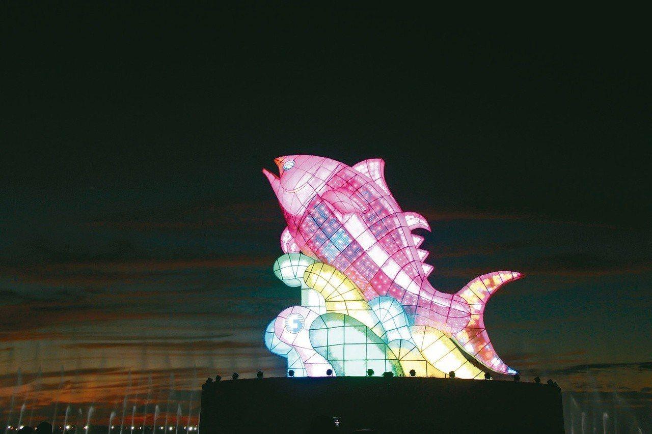 2019台灣燈會今年的主燈是「巨鮪來富」。 圖/屏東縣政府提供