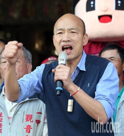 高雄市長韓國瑜日前感嘆「台灣鬼混20多年,完全沒有在進步」。圖/聯合報系資料照片
