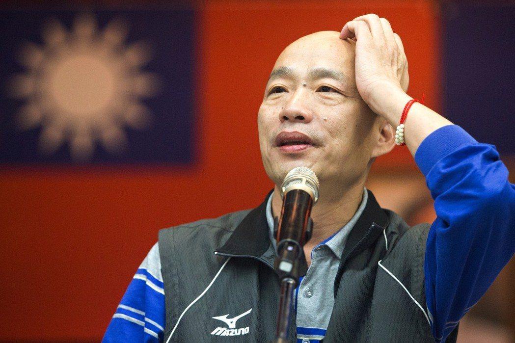韓國瑜不管是選前「旗津賭場」,或選後的「楠梓賽馬產業鏈」,都成功吸引媒體目光。 圖/聯合報系資料照