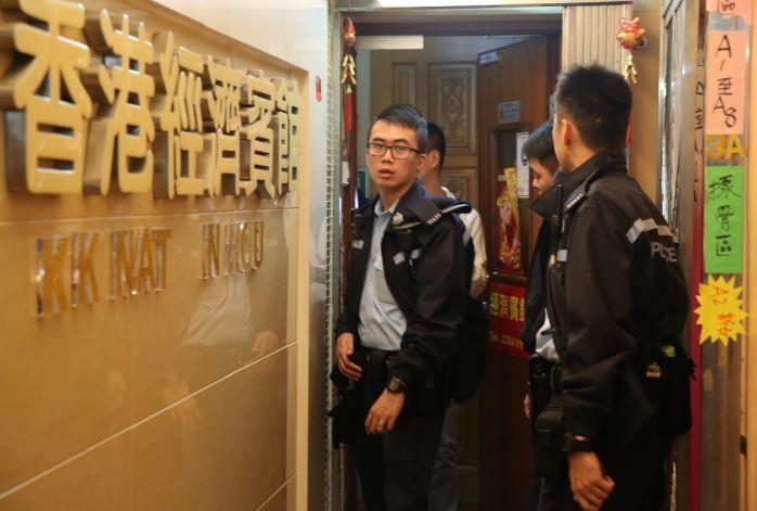 今日早晨香港發生一起持刀搶劫案,警方正在現場進行調查。香港01 記者蔡正邦/...