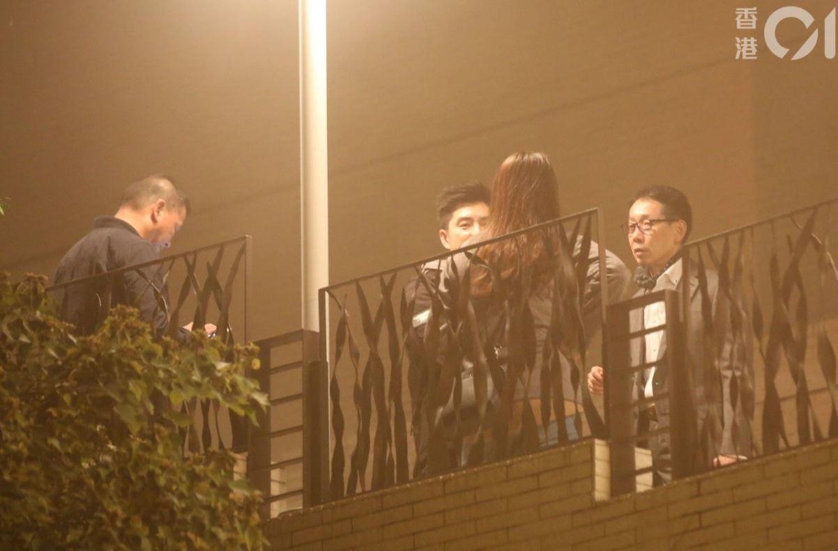 警方與保全人員正在現場調查香港01 記者陳永武/攝影