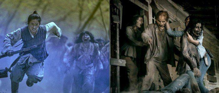 《李屍朝鮮》和《陰屍路》活屍設定相當不同。圖/擷自IMDb、AMC官網