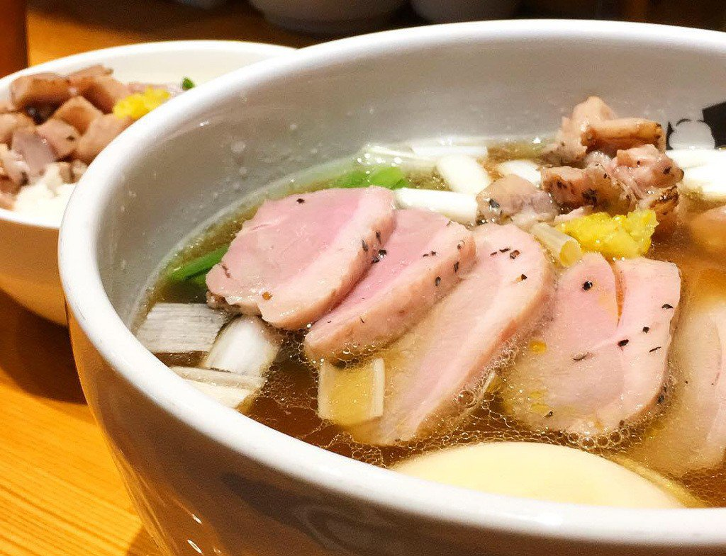 特製鴨中華そば(醬油)1100円