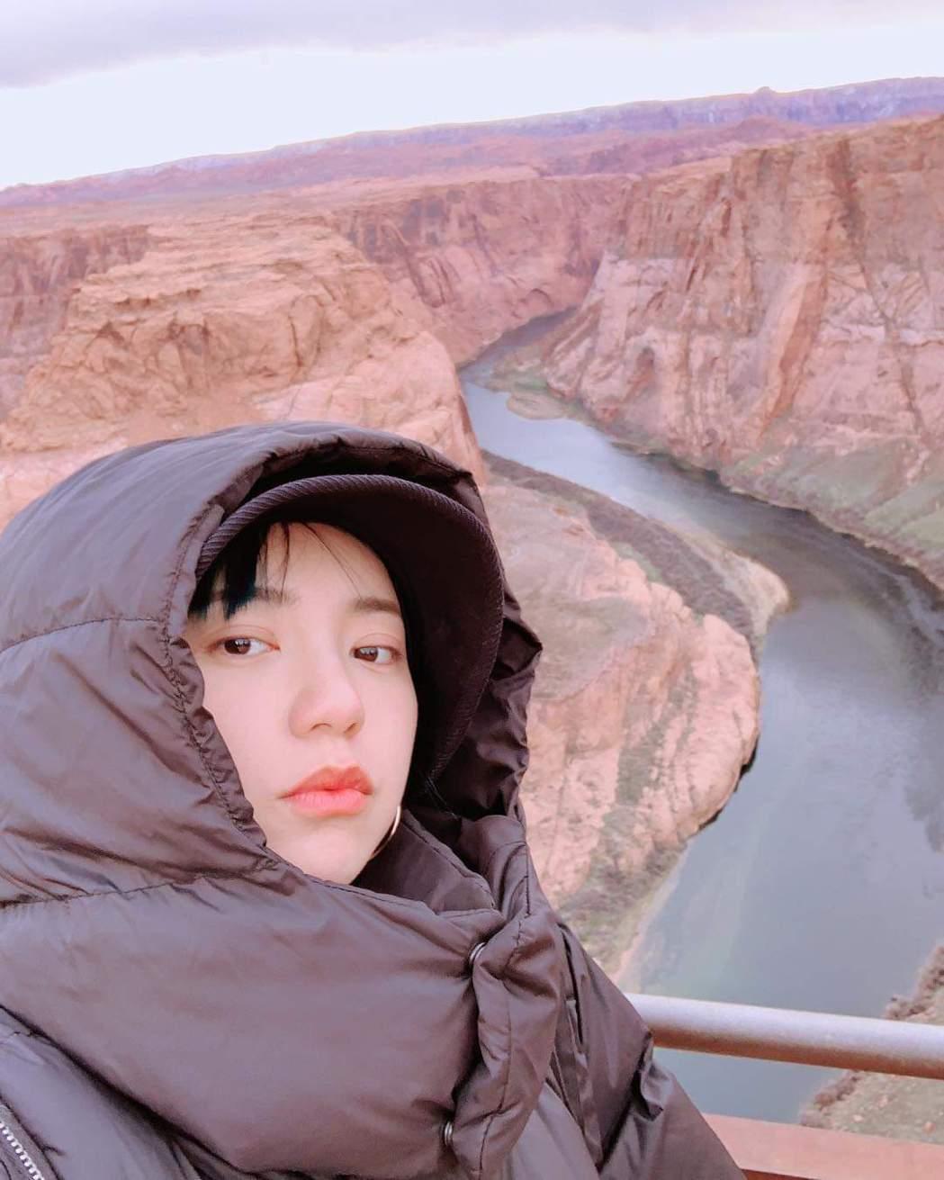 郭雪芙正在旅行度假。圖/摘自臉書