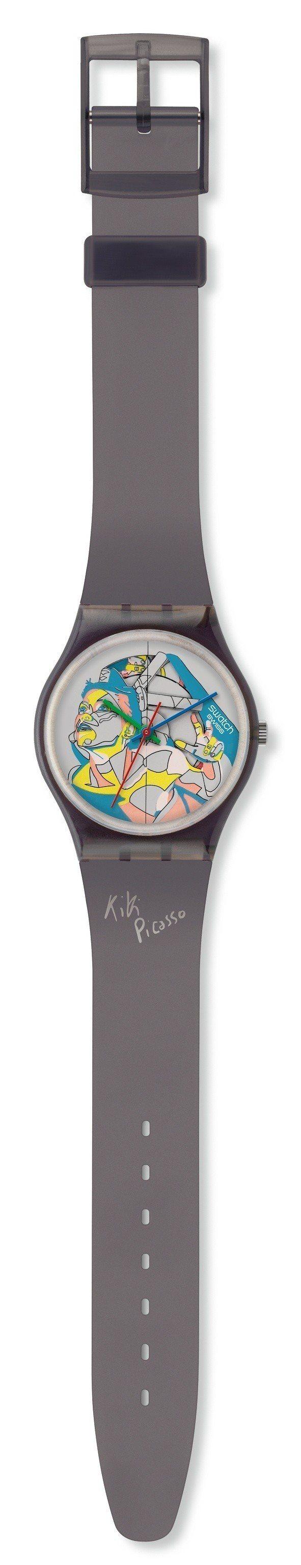 1985年SWATCH與法國畫家Kiki Picasso聯手,推出限定140只的...