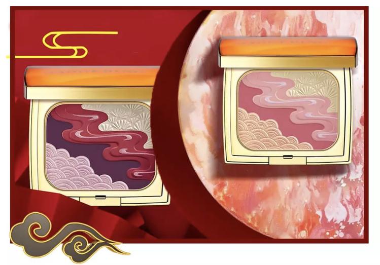 「玉石雲煙多用彩妝盤」,共四款色系,提供不同的場合需求做搭配。圖/摘自微信