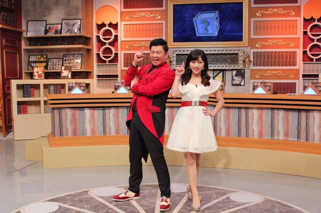 曾國城(左)和蔡尚樺合作東森新節目「全民星攻略」。圖/東森提供