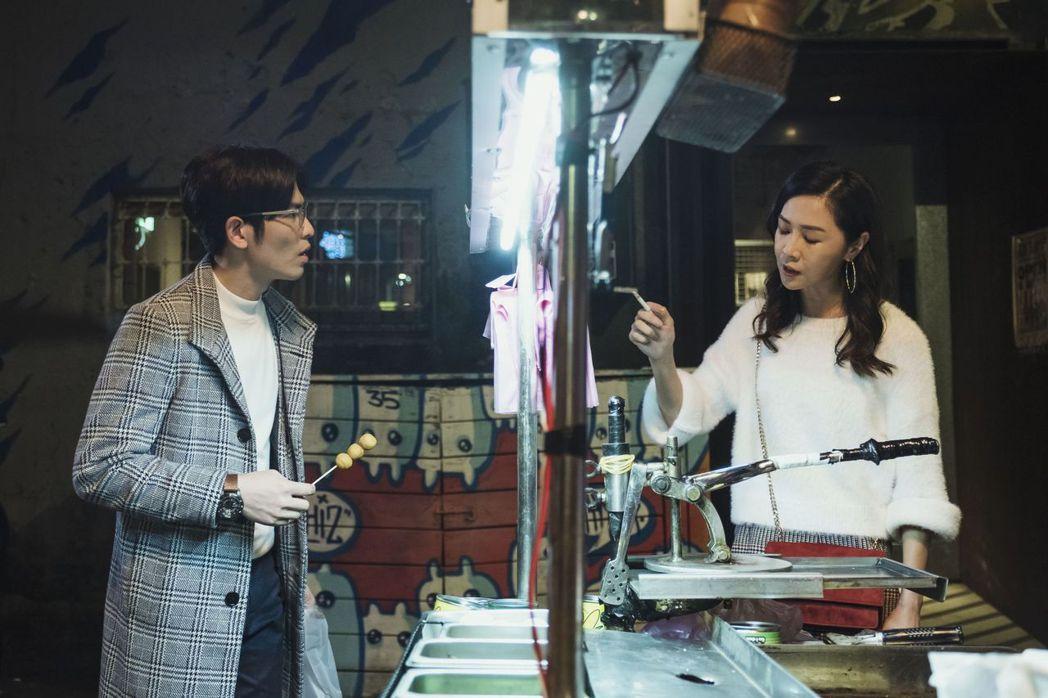 蕭敬騰(左)與謝盈萱對戲張力十足。圖/公視提供