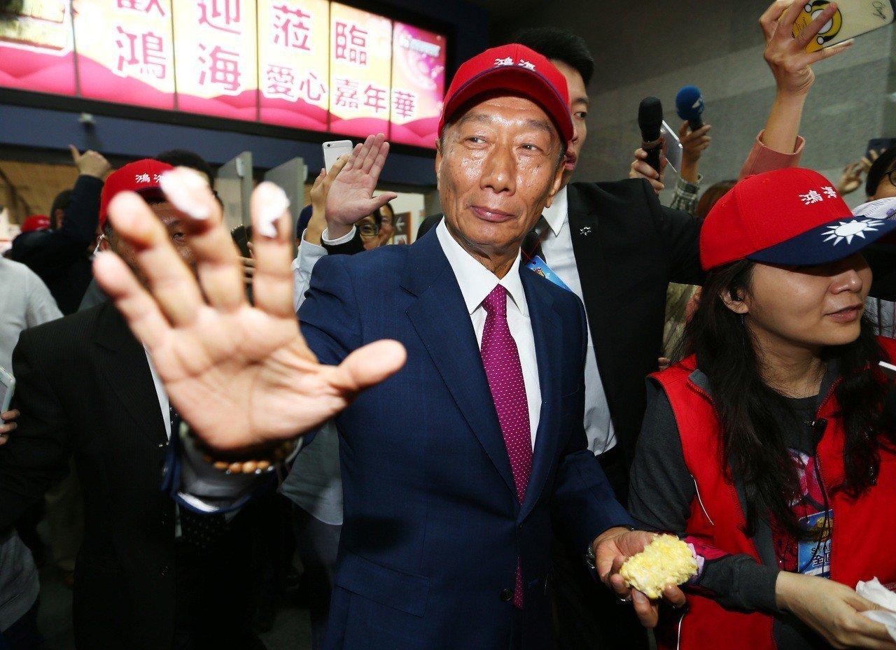 鴻海董事長郭台銘。聯合報系記者杜建重/攝影