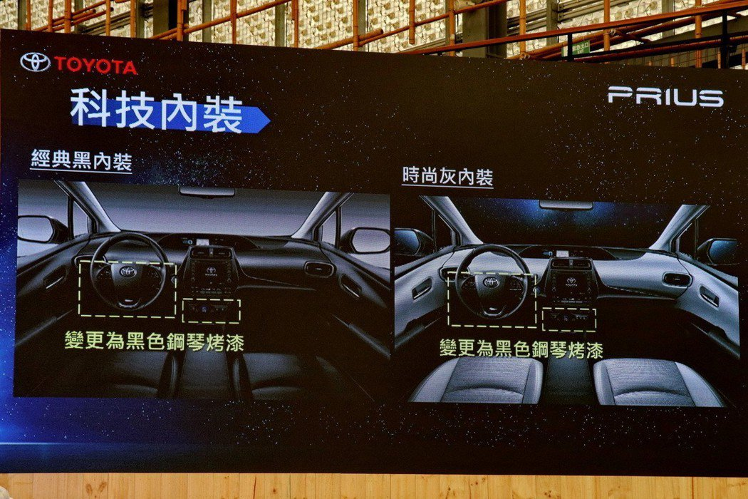 Toyota Prius內裝也做了微幅調整。 記者陳威任/攝影
