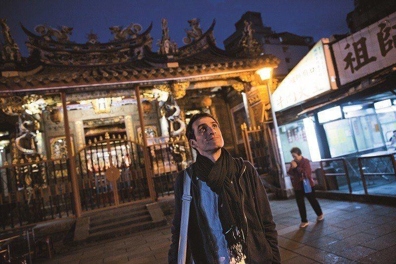 尚若白最新的電影以台灣的民間信仰作為題材。(攝影/楊子磊)