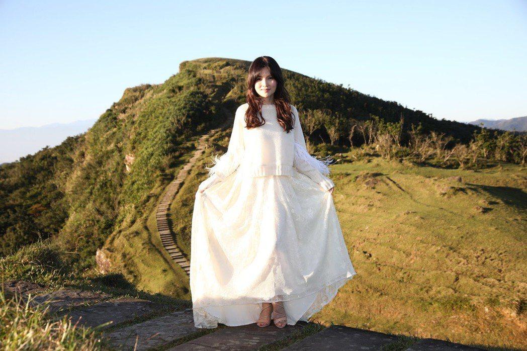 談詩玲新歌「流雲調」MV頂著10度低溫拍攝完成。圖/豪記唱片提供