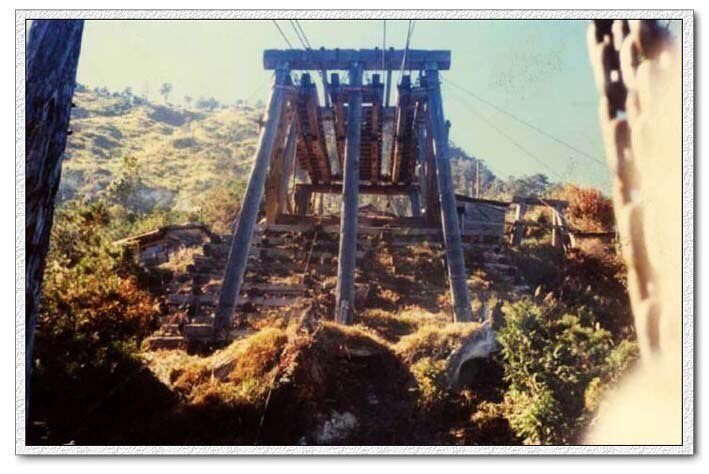 花蓮嵐山索道是早年伐木的重要運材工具。圖/花蓮林管處提供