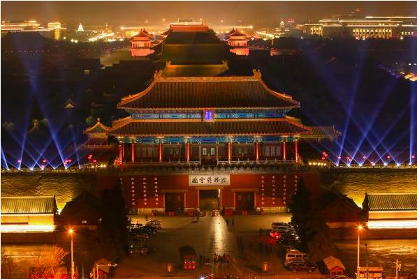 北京故宮今晚上演「紫禁城上元之夜」元宵節文化活動,600歲的紫禁城古建築群第一次...