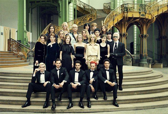 卡爾拉格斐提拔多位具備當代時尚魅力的新生代名模、男女星成為品牌大使或好友。圖/香...