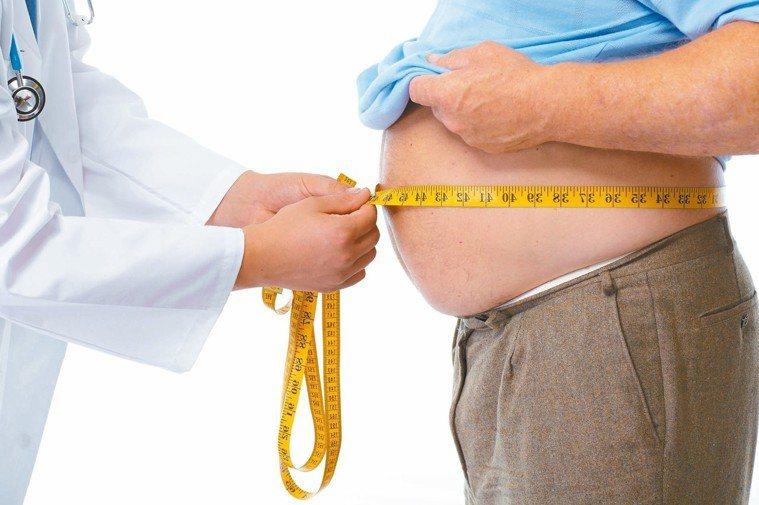 肥油大肚男為慢性腎病高風險族群,醫師提醒,控制體脂肪。 圖/123RF