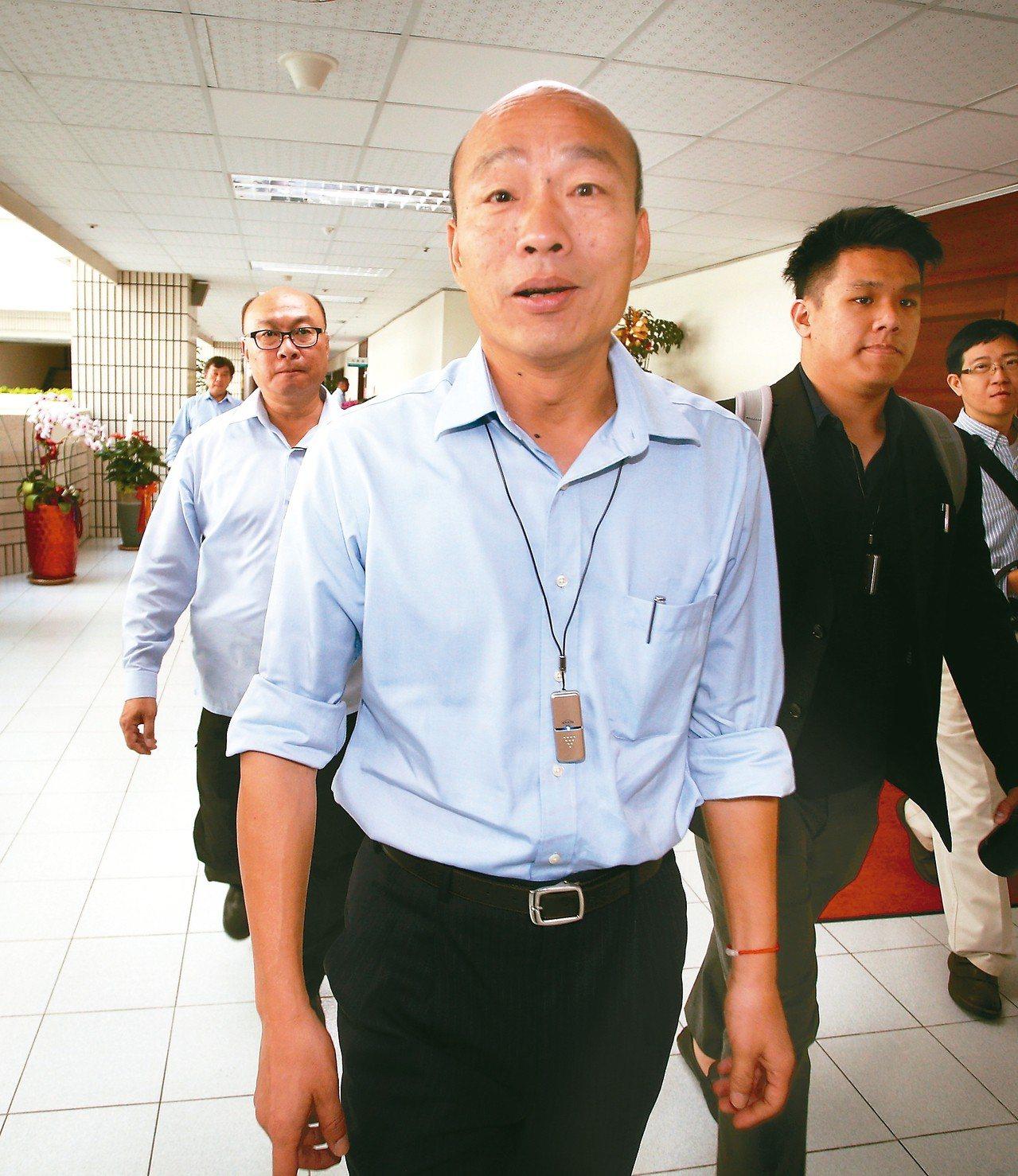 高雄市長韓國瑜上午舉行記者會,宣告醫療觀光元年起跑。 記者劉學聖/攝影