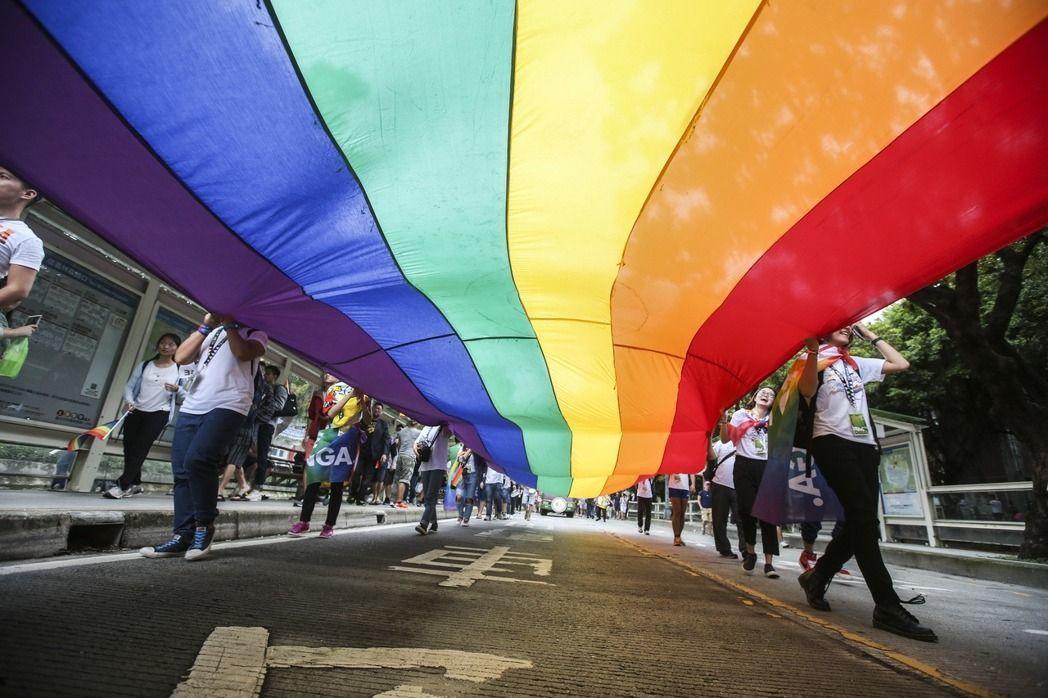 行政院版的同性婚姻專法草案今天晚上出爐。 聯合報系資料照