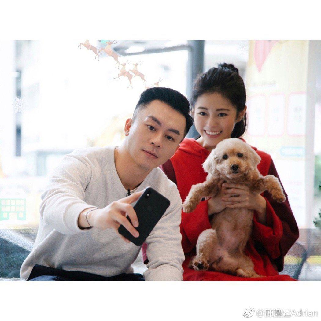 任容萱與陳澧霆在節目中被認為很般配。圖/擷自微博