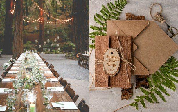 從喜帖、婚宴紀念品等小細節開始著手設計,讓妳的婚禮風格獨「樹」一格。圖/ pin...